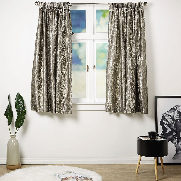 Living & Co Dune Curtains Pebble Grey 150-230cm Wide/160cm Drop, Grey, hi-res image number null