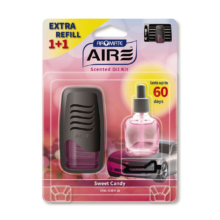 Aromate Sweet Candy Scented Wick Auto Air Freshener with Refill, , hi-res