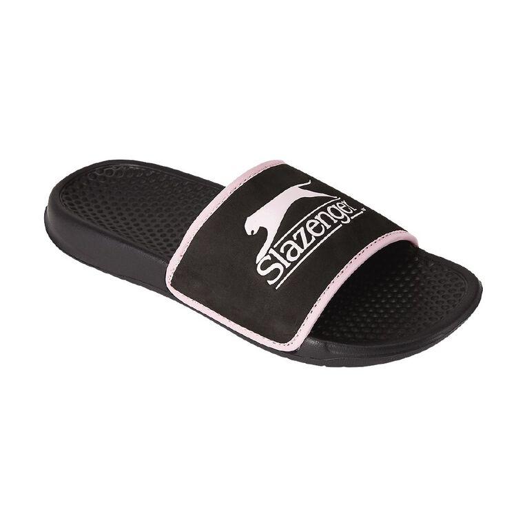 Slazenger Women's Slides, Black, hi-res