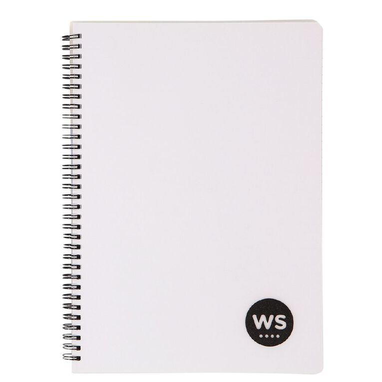 WS Notebook PP Wiro 200 Pages Soft Cover White A4, , hi-res