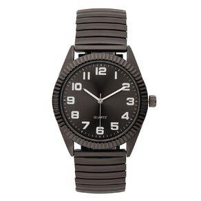 Eternity Men Analogue Watch Expandable Bracelet Dark Grey
