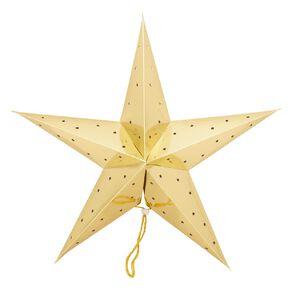 Party Inc Star Lantern Metallic Gold 50cm
