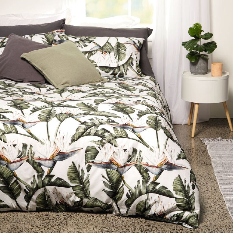 Living & Co Duvet Cover Set Paradise Green King, Green, hi-res image number null