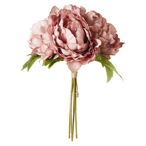 Living & Co Artificial Peony Bunch Pink 29cm