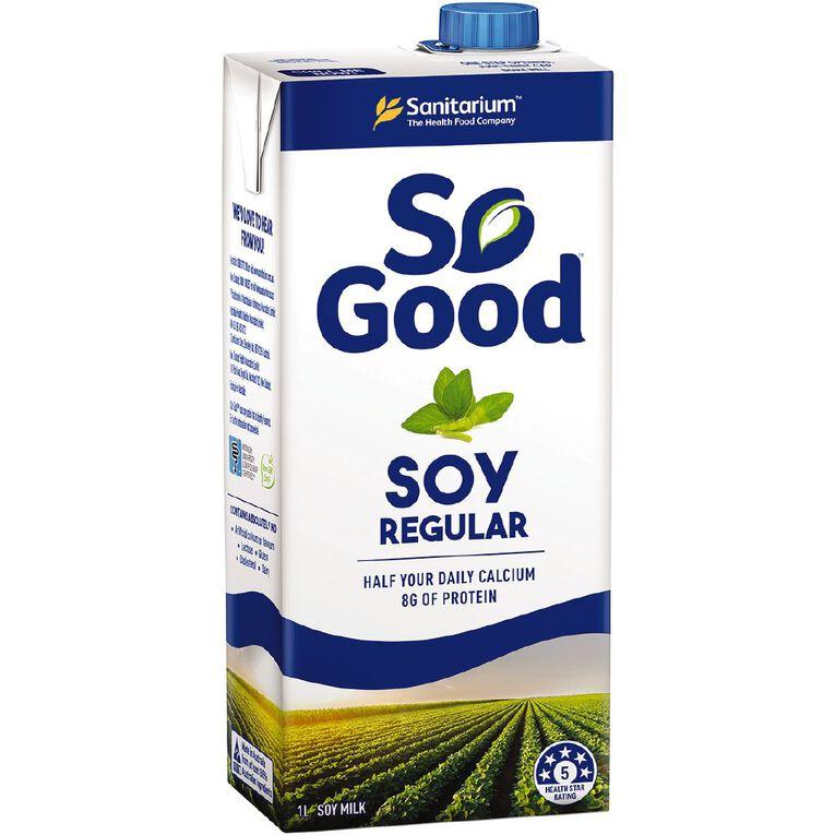 Sanitarium So Good Soy Milk 1L, , hi-res
