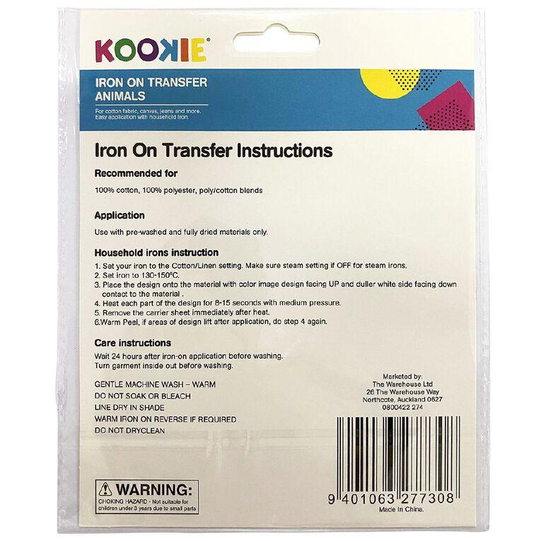 Kookie Iron on Transfer Zoo, , hi-res