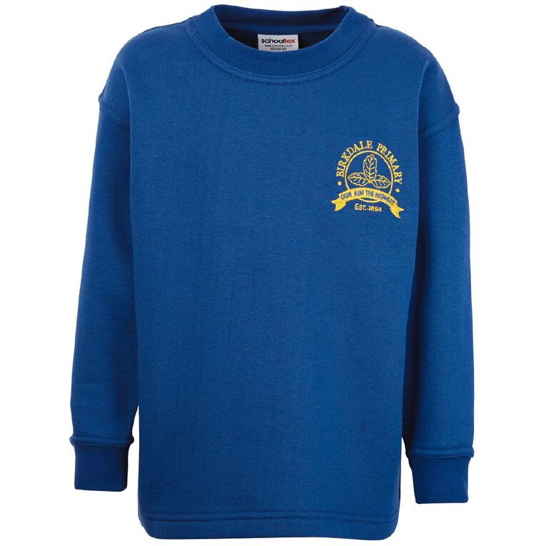 Schooltex Birkdale Primary Crew Neck Tunic with Embroidery, Royal, hi-res
