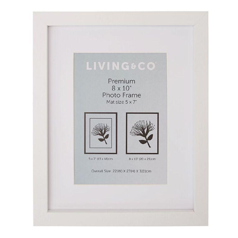 Living & Co Premium Photo Frame White 5in x 7in, White, hi-res