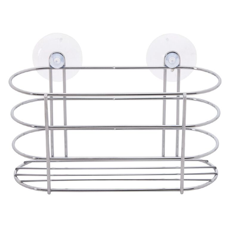 Living & Co Shower Caddy Silver Small, Silver, hi-res image number null