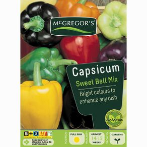 McGregor's Sweet Bell Mixed Capsicum Vegetable Seeds