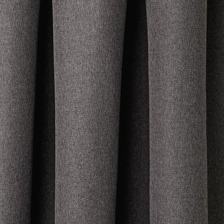 Living & Co Urban Curtains Charcoal 150-230cm Wide/160cm Drop, Charcoal, hi-res