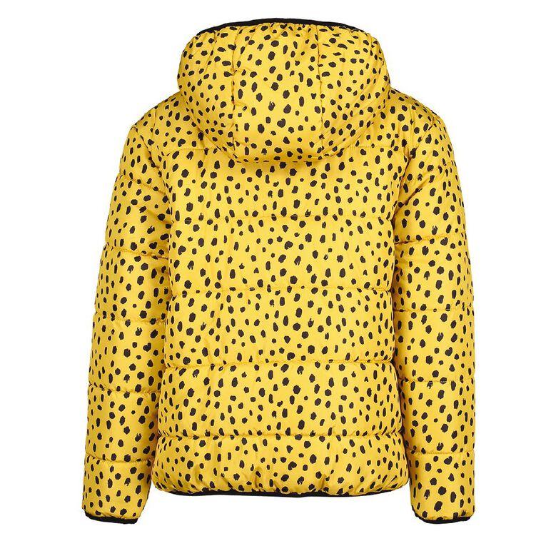 Young Original Girls' Reversible Puffer Jacket, Yellow Mid, hi-res