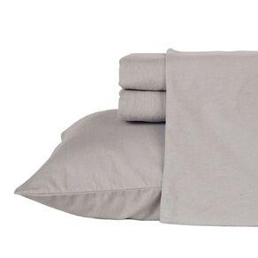 Living & Co Sheet Set Cotton Flannelette High Rise Grey