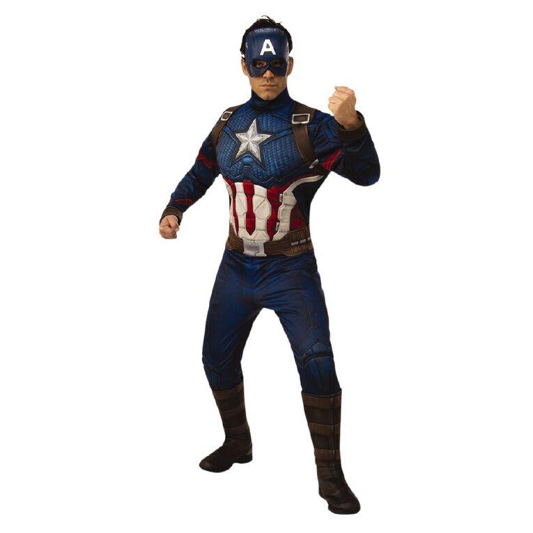Marvel Captain America Deluxe Avengers 4 Adult Costume - Size Standard, , hi-res
