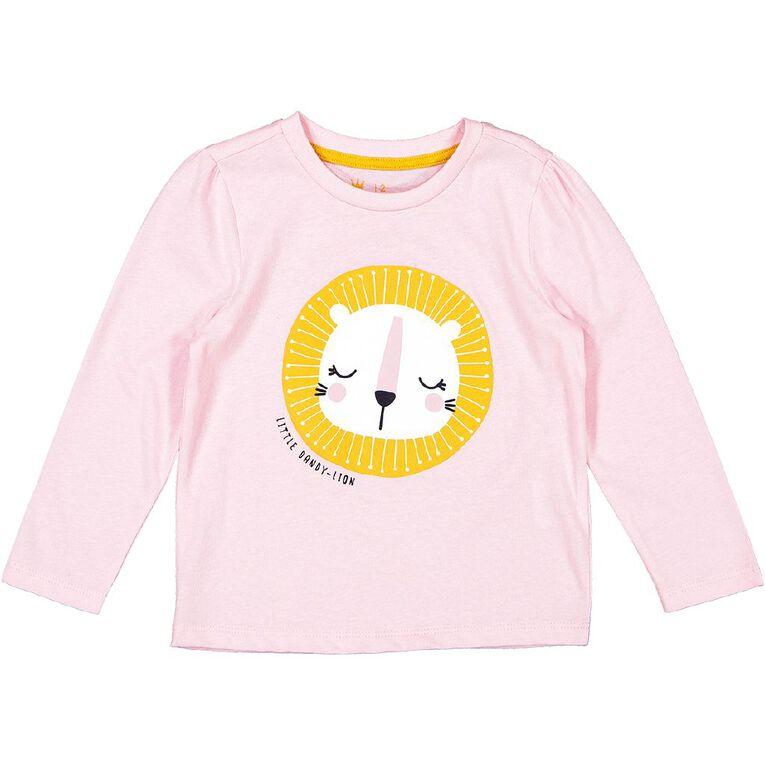 Young Original Toddler 2 Pack Long Sleeve Tees, Pink Light LION, hi-res