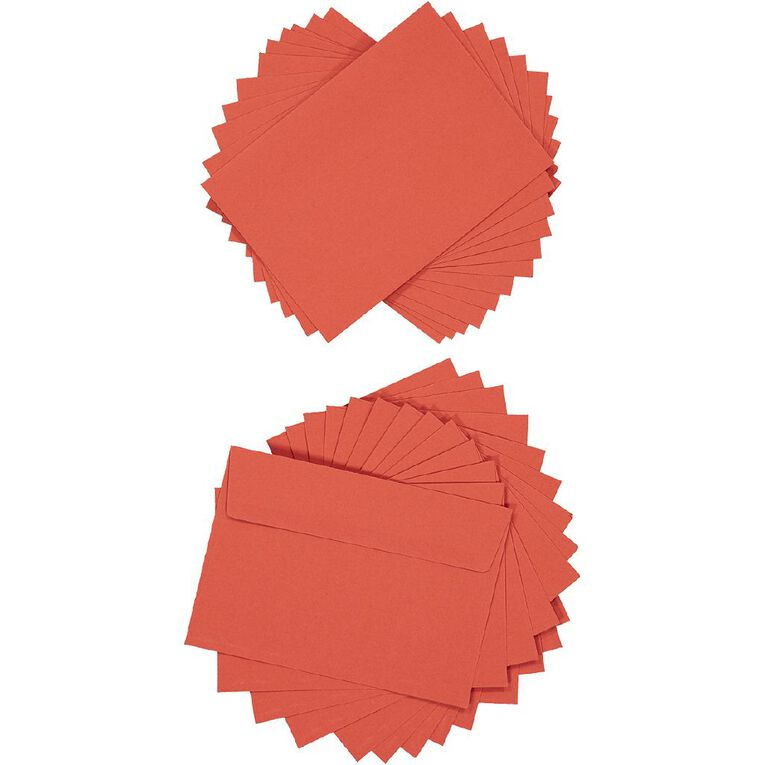Create With C6 Envelopes 25 Pack Red, , hi-res
