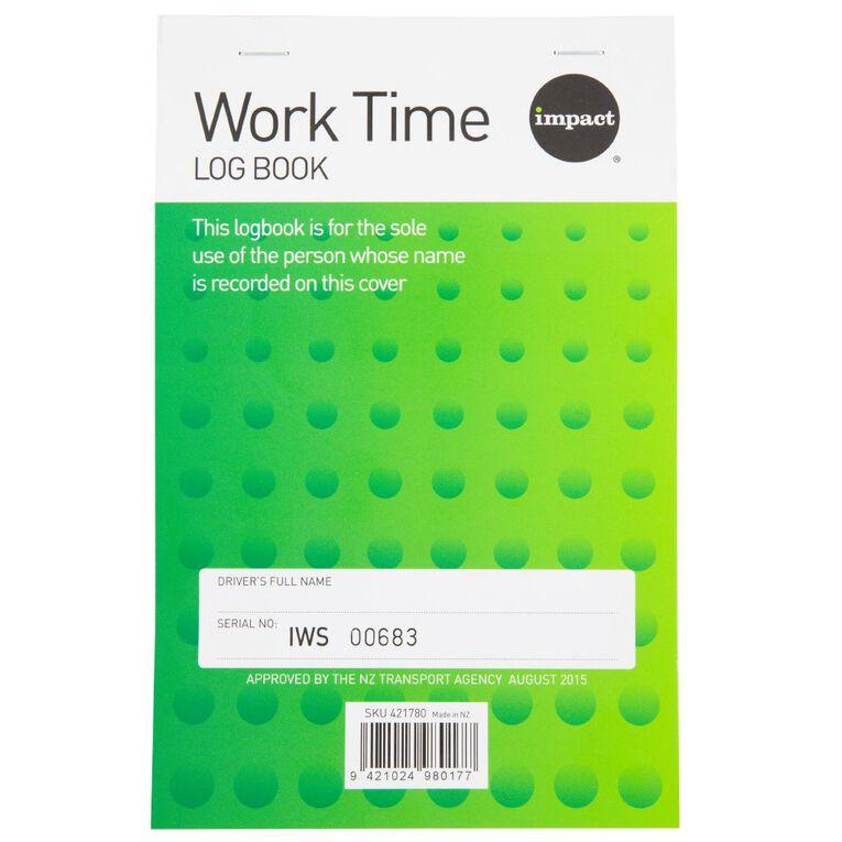 WS Work Time Log Book Green, , hi-res