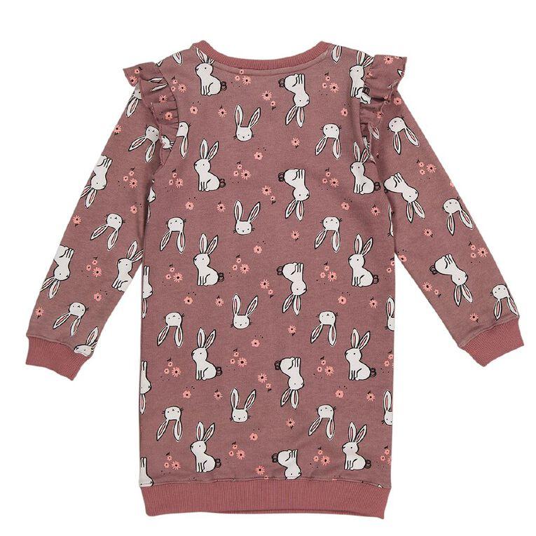 Young Original Flutter Dress, Pink Dark, hi-res