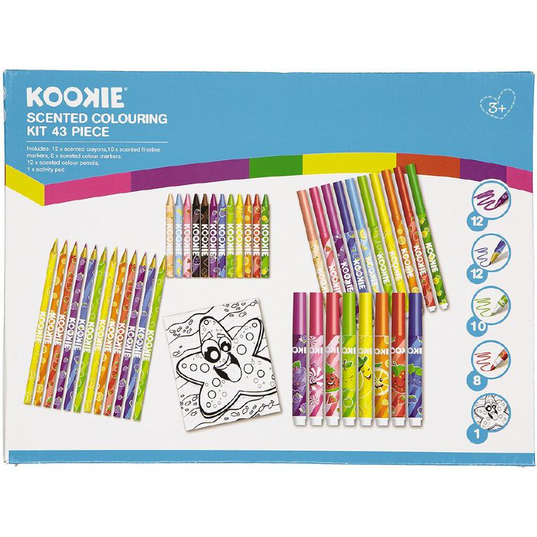 Kookie Scented Colouring Kit 43 Piece, , hi-res