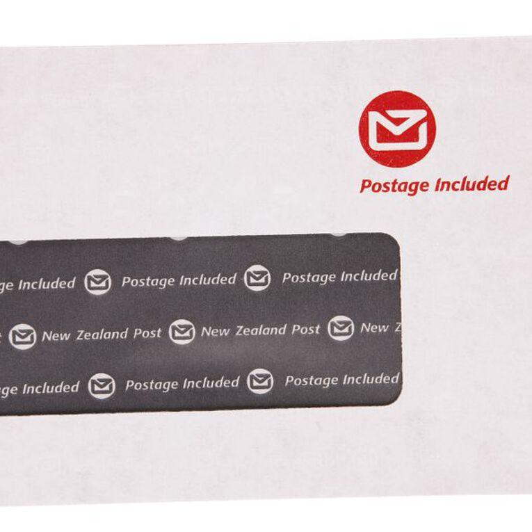 New Zealand Post E9 Envelope Prepaid Window 500 Pack, , hi-res image number null
