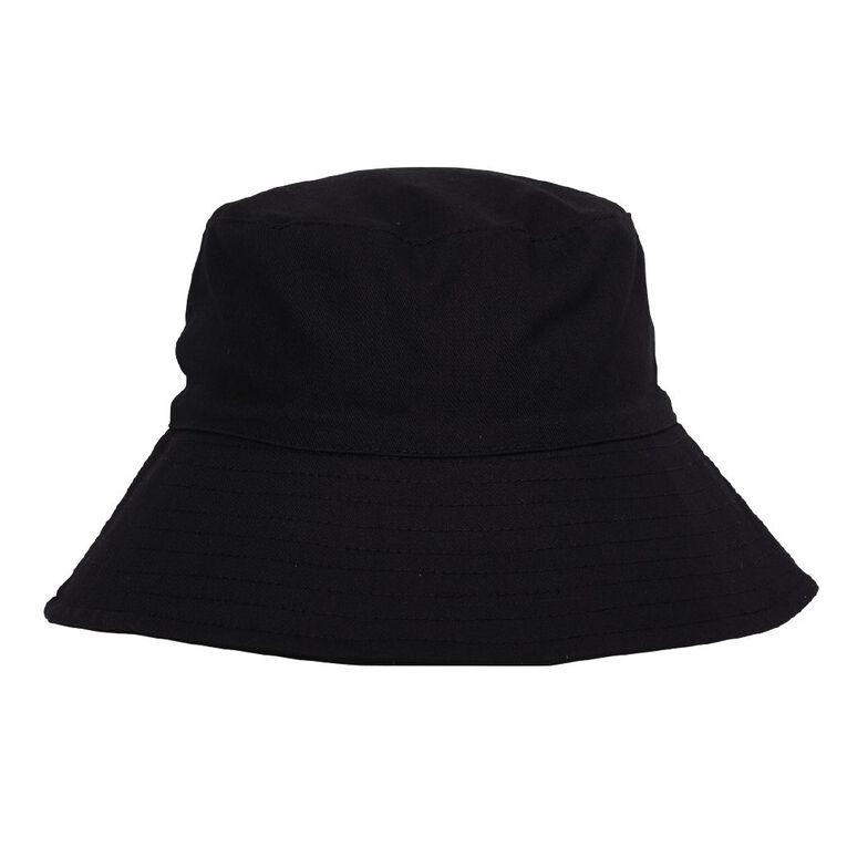 H&H Women's Bucket Hat, Black, hi-res