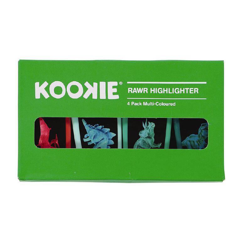 Kookie Rawr Highlighter 4 Pack Multi-Coloured, , hi-res