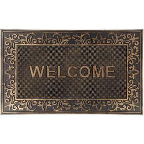 Living & Co Welcome Metallic Door Mat Bronze 45cm x 75cm