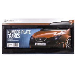 Autohaus Number Plate Frames Black 2 Pack