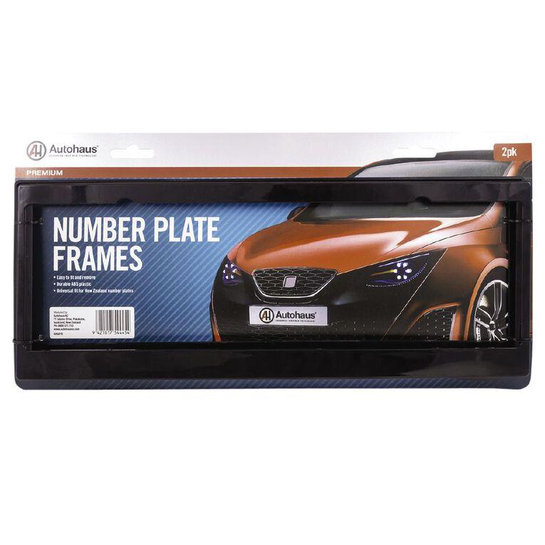 Autohaus Number Plate Frames Black 2 Pack, , hi-res