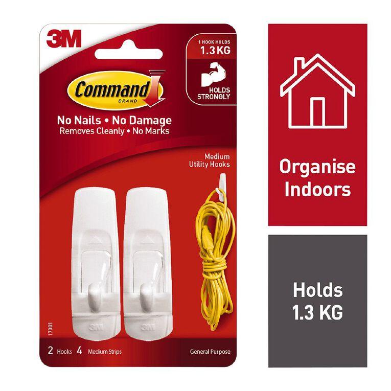 Command Hooks 2 Pack White Medium, , hi-res
