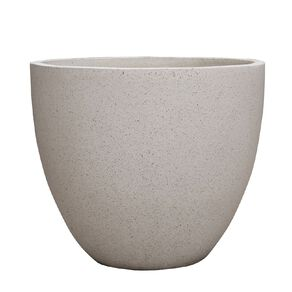 Kiwi Garden Lightweight Cement Egg Planter White 37cm