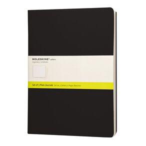 Moleskine Cahier Extra Large Notebook Unruled 3 Pack Black