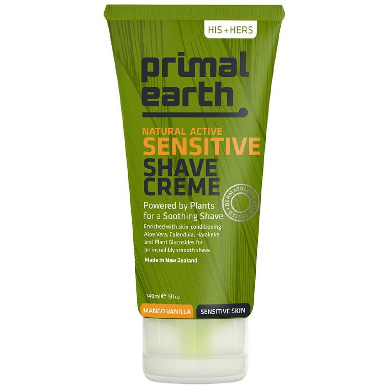Primal Earth Sensitive Shave Creme 140ml, , hi-res