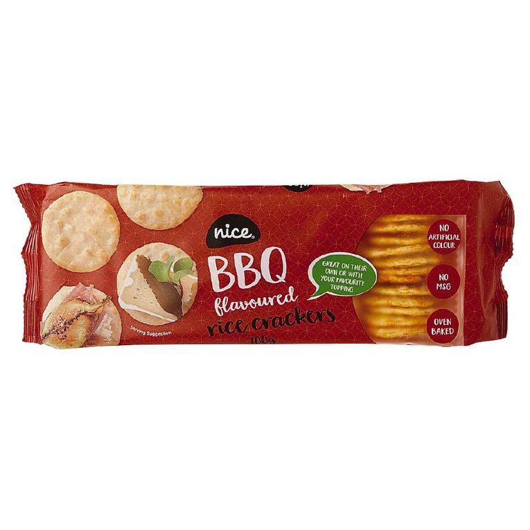 Nice Rice Cracker BBQ 100g, , hi-res