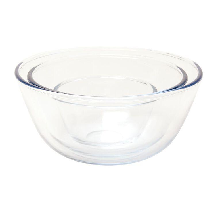 Living & Co Glass Mixing Bowl Set 3 Piece, , hi-res