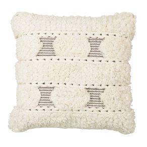 Living & Co Trenza Cotton Cushion Natural 45cm x 45cm