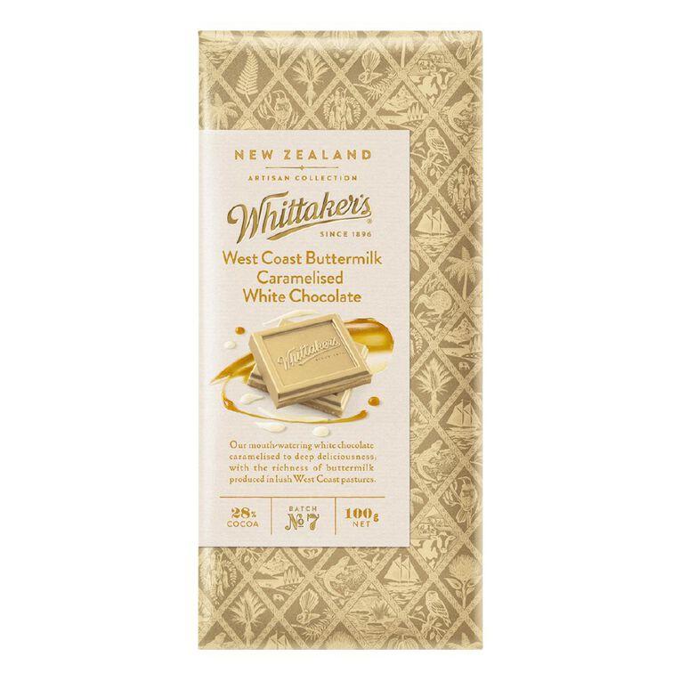 Whittaker's Westcoast Buttermilk Caramelised White Choc 100g, , hi-res
