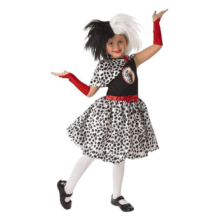 101 Dalmatians Disney Cruella De Vil Deluxe Costume 5-6 Years, , hi-res