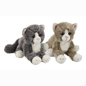 Antics Silky Cats Lying Large Assorted 30cm