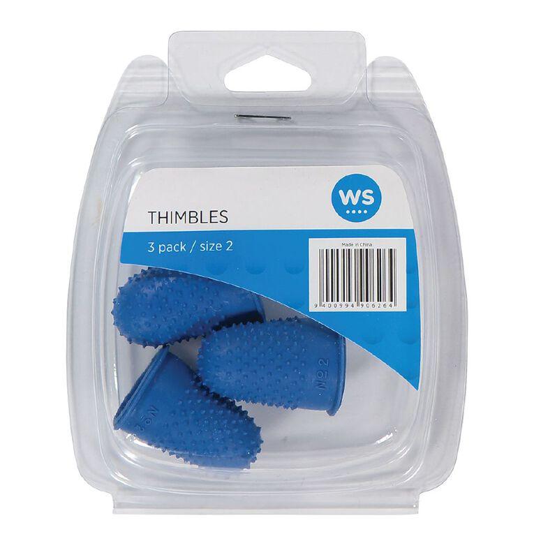 WS Thimbles Size 2 Each 3 Pack, , hi-res