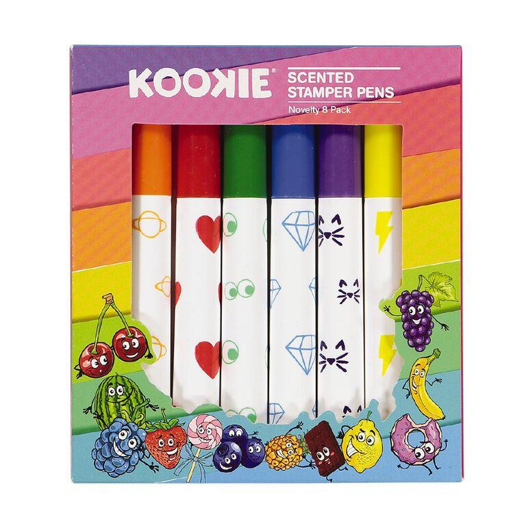 Kookie Novelty Pens Stamper Scented 8 Pack Multi-Coloured, , hi-res