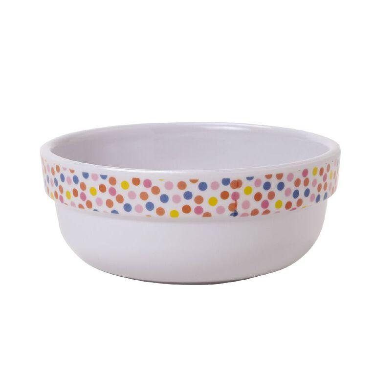 Living & Co Kids Melamine Printed Bowl Soiree Multi-Coloured, , hi-res