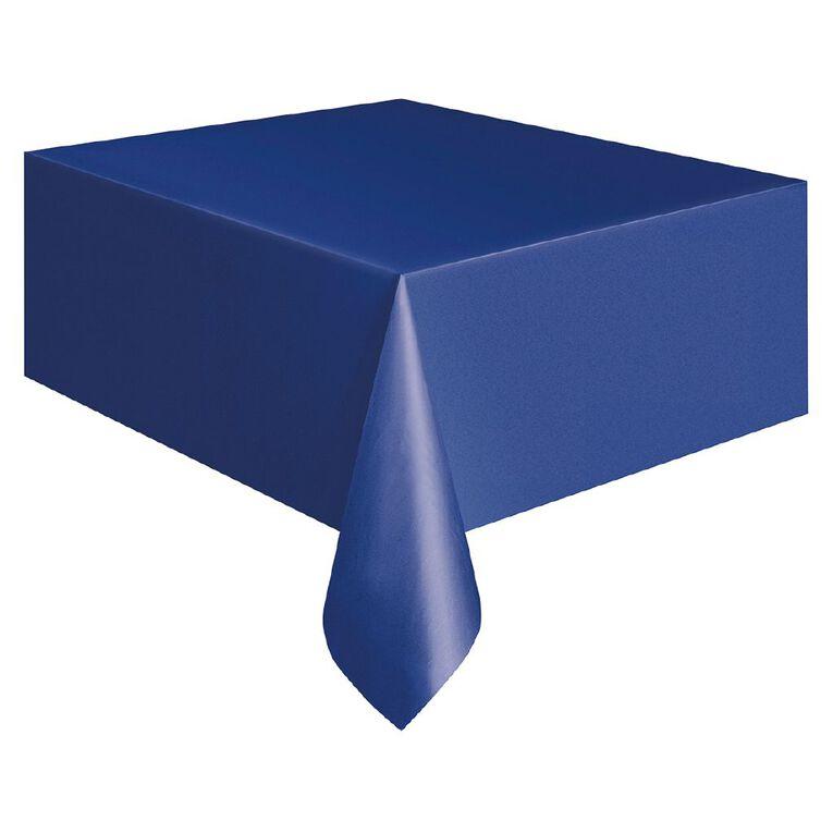 Unique Plastic Tablecover Rectangle Royal Blue 137cm x 274cm, , hi-res