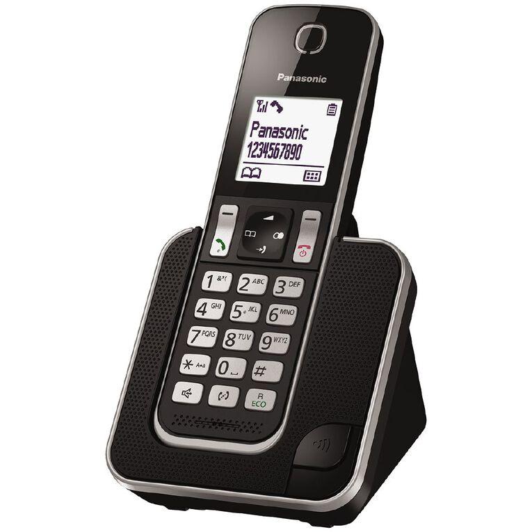 Panasonic KX-TGD310NZB Single Cordless Handset Black Black, , hi-res