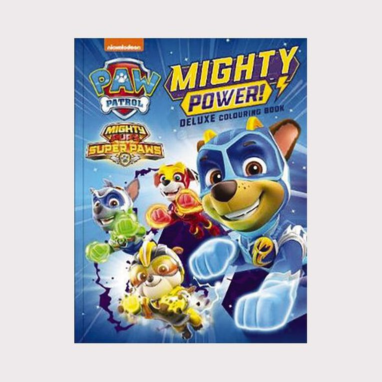 Paw Patrol Mighty Pups Deluxe Colouring Book, , hi-res