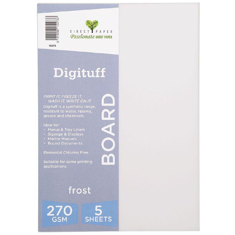 Direct Paper Digituff 270gsm 5 Pack Frost A4, , hi-res