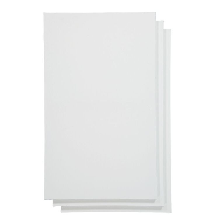 Uniti Blank Canvas 280gsm 20in x 12in 3 Pack, , hi-res image number null