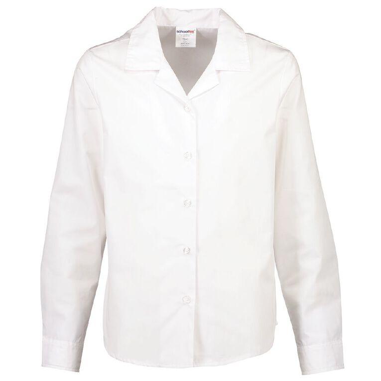 Schooltex Long Sleeve Summer Weight School Blouse, White, hi-res