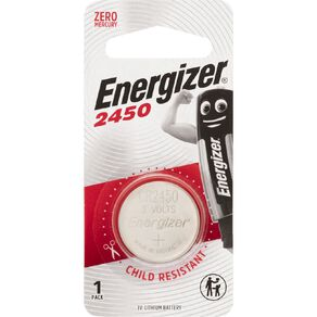 Energizer Lithium Coin Battery 2450 3 Volt 1 Pack