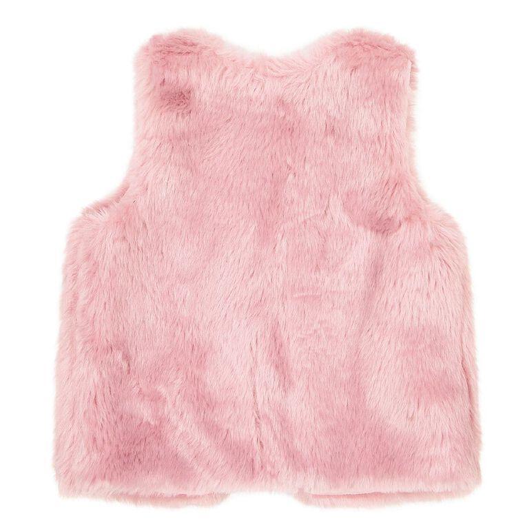 Young Original Toddler Faux Fur Vest, Pink Light, hi-res